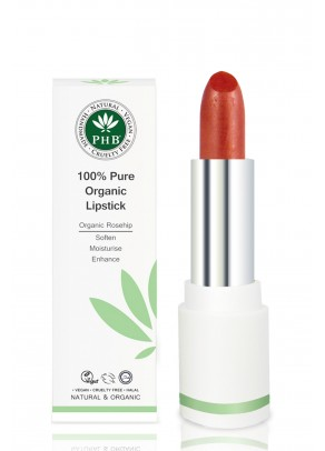Organic lipstick with shea butter and rosehip oil (Sienna)