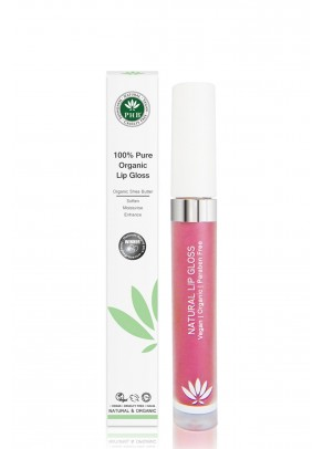 Organic lip gloss with shea butter, jojoba oil, tangerine oil (Raspberry).