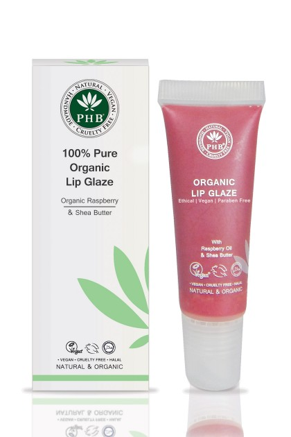 Organic lip glaze with raspberry seed oil, shea butter, SPF 15 (Raspberry)