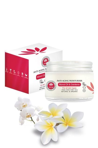 Crema antirid hidratanta bio cu ulei de Monoi si extract de gardenie