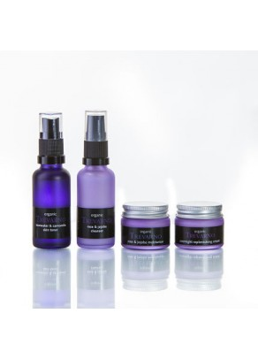 Organic Facial Care Travel Set for Dry and Mature Skin
