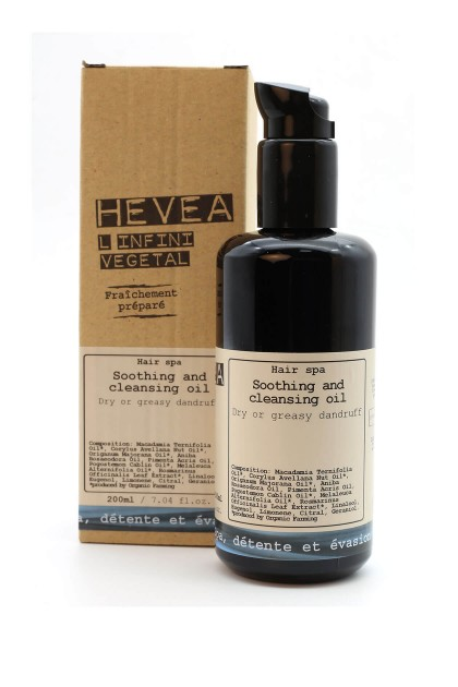 Dandruff hair treatment with organic macadamia, patchouli and tea tree