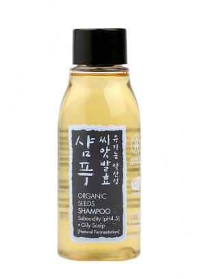 Organic Seeds Shampoo for Oily Scalp with Mung Bean, Hinoki Cypress and Zhi Mu - 60 ml