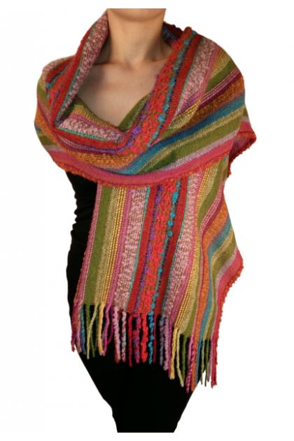 Flores de verano - baby alpaca shawl