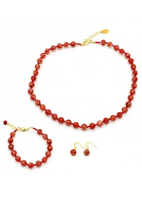Murano Set Sommerso 8 mm - 3 piese