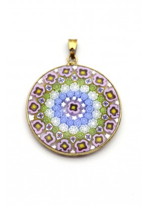 Murrine Pendant Grande (gold plated silver, 3,2 cm)