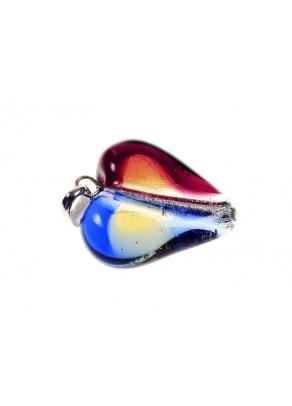 Menora Pendant - Murano glass, silver