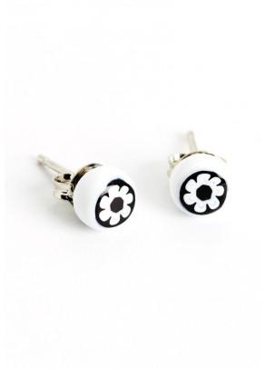 Fantezia White Earrings
