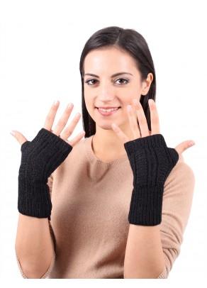 Yara - baby alpaca fingerless gloves