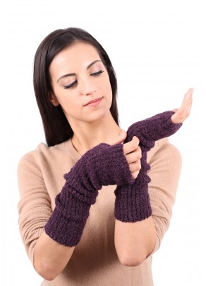 Rima - baby alpaca boucle long gloves