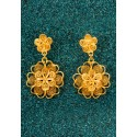 Gold-plated Silver Filigree Earrings - Florecitas