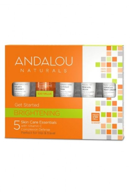 Brightening Organic Cosmetics by Andalou Naturals Gift Set